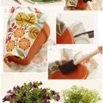 آموزش تصویری تزئین گلدان