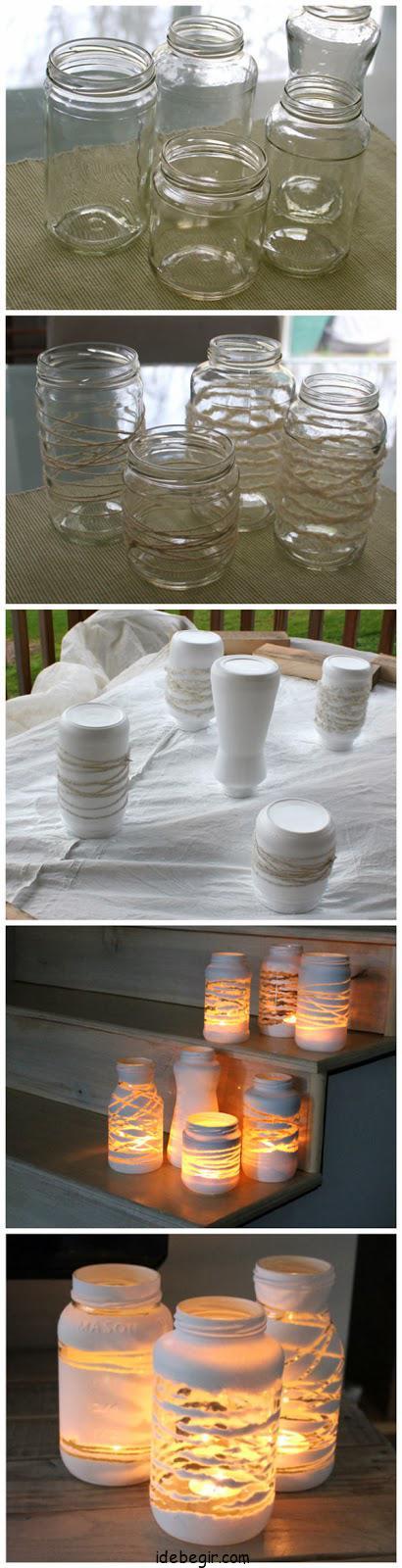 تزئین شیشه- جا شمعی (2)