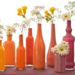 2 ایده زیبا برای تبدیل شیشه های ساده به گلدان