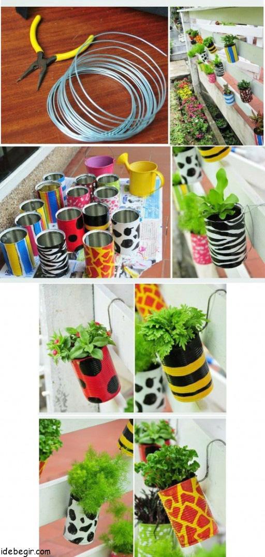 ساخت گلدان از قوطی های بلا استفاده (1)