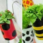 ساخت گلدان از قوطی های بلا استفاده