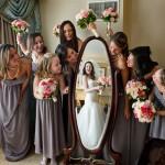 عکاسی از عروس و داماد به همراه ساقدوش ها