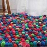 آموزش تصویری درست کردن یک قالیچه با کاموا