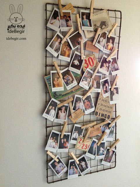یه ایده خوب برای چیدمان عکس های یادگاری روی دیوار
