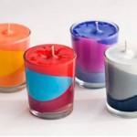 آموزش درست کردن شمع رنگارنگ