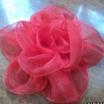 آموزش تصویری درست کردن گل با ربان