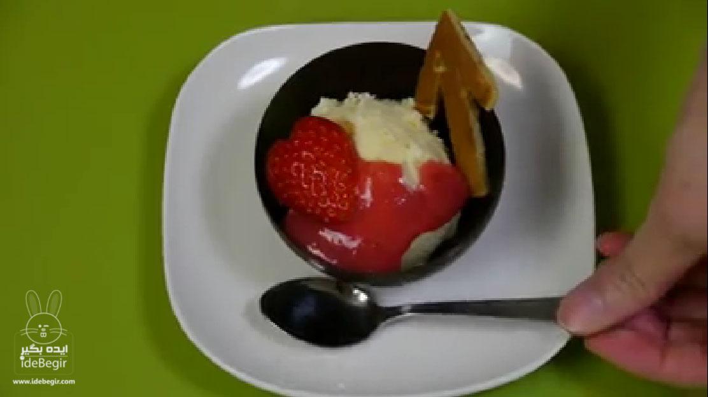 آموزش درست کردن کاسه های شکلاتی