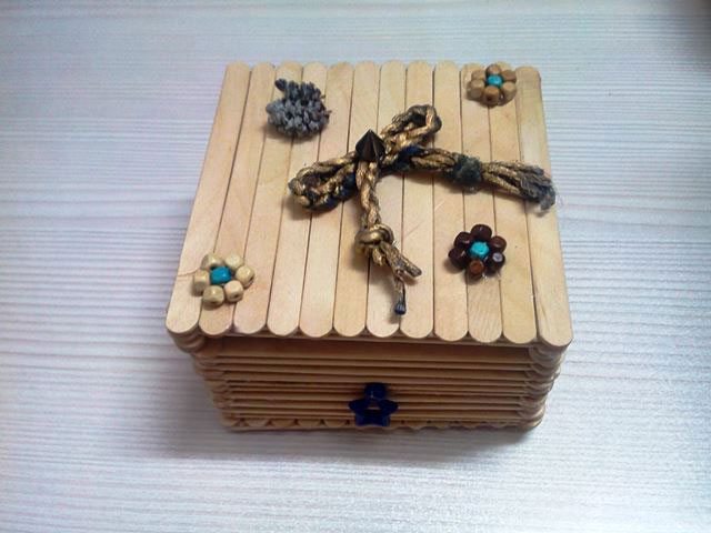 ساخت جعبه با چوب بستنی - کاردستی