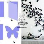ایده های جذاب با پروانه های کاغذی