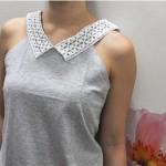 آموزش تصویری تزئین یقه لباس