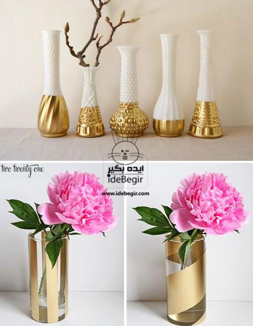 طرح دار کردن گلدان