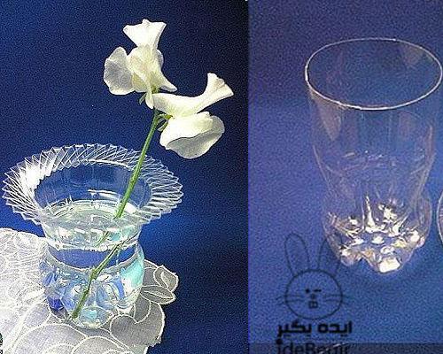آموزش درست کردن گلدان با بطری