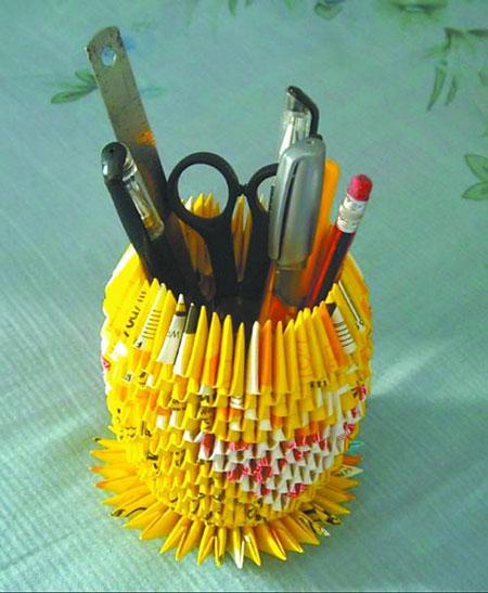 آموزش تصویری ساخت جامدادی با کاغذ