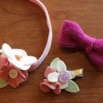 آموزش تصویری درست کردن سه مدل گل سر