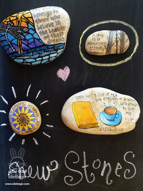 خلاقیت با سنگ، طراحی روی سنگ