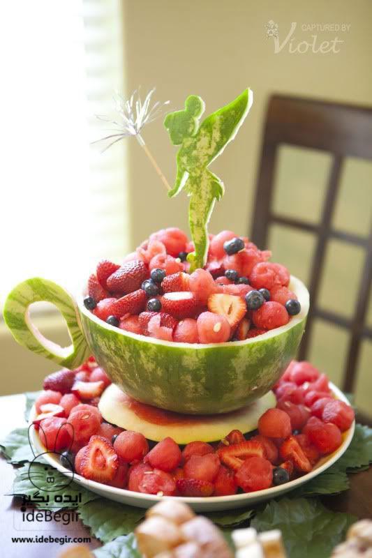میوه آرایی - تزئین میوه
