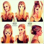 آموزش تصویری شینیون کردن مو