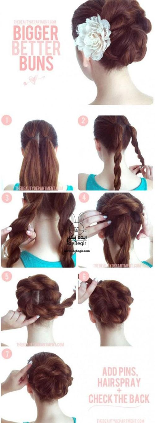 آموزش تصویری درست کردن مو - مدل مو به کمک بافت