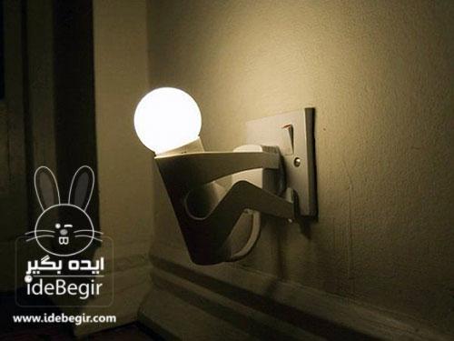 ایده های جالب و خلاقانه، ایده برای لامپ و پریز