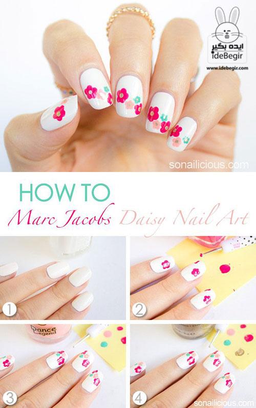 آموزش تصویری طراحی روی ناخن