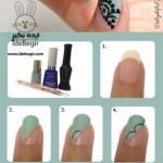 آموزش تصویری 6 مدل طراحی روی ناخن