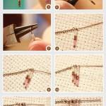 آموزش تصویری درست کردن یک گردنبند ساده و زیبا