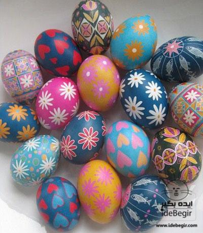 تزئین تخم مرغ رنگی