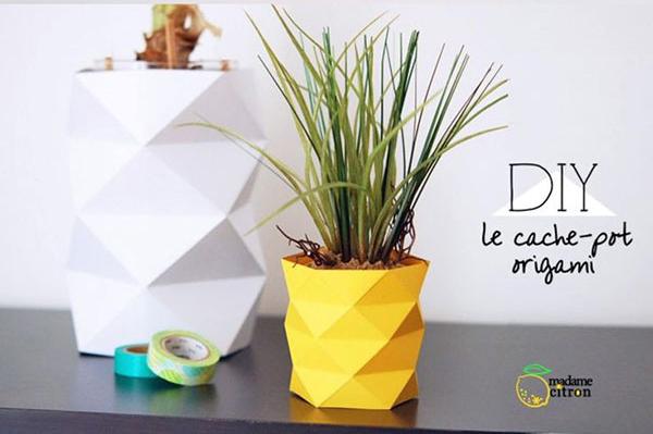 آموزش تصویری ساخت گلدان کاغذی