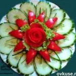 11 ایده برای تزئین خیار و گوجه