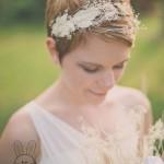 مدل مو برای عروس های مو کوتاه
