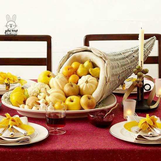 thanksgiving-table-design-ideas-apples-pumpkins-cornicopia