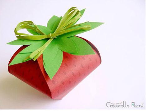 درست کردن جعبه توت فرنگی- الگوی جعبه هدیه