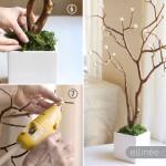 آموزش تصویری درست کردن درختچه تزئینی