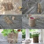درست کردن گلدون با چوب